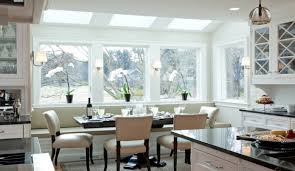 bay window kitchen table home design ideas