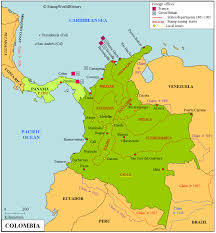 Colombian Map Colombia Stamps And Postal History Stampworldhistory