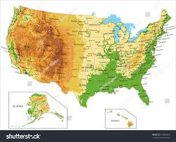Physical Map Of Colorado by United States Americaphysical Map Stock Vector 518882503