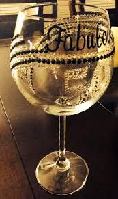 fabulous u0026 fifty diy wine glass custom wine glass birthday gift