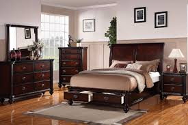 Wood Furniture Design Bed 2015 Interior Magnificent Bedroom Interior Idea Complete With Cherry Antique King Size Bed Adding Two Drawers Underneath Also Rectangular Dressing Vanity Chest
