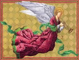 caspari cards buy caspari angel with trumpet christmas cards box of 16 in