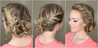 images of black braided bunstyle with bangs in back hairstyle side french braid with bun style your hair