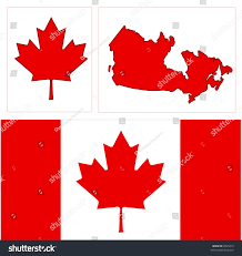 icon red maple leaf canadian flag stock illustration 8925313