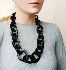 statement chain necklace images Black chain necklace oversized chunky statement necklace etsy jpg