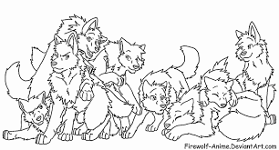 Wolf Pack Coloring Pages Wolf Pack Coloring Pages Getcoloringpages Com