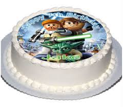 starwars cake personalised starwars cake toppers with any name on decor real