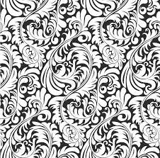 seamless fern wallpaper pattern background stock vector image
