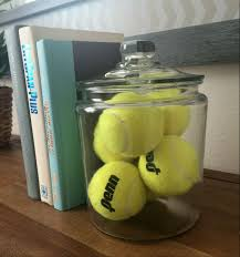 Golf Home Decor These Tennis Balls In A Glass Container Are A Great Way To