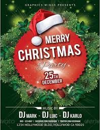 25 merry christmas flyer template images