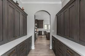 shaker style kitchen pantry cabinet espresso stained shaker cabinets with brass hardware