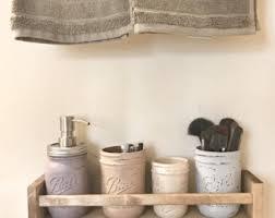 Mason Jar Bathroom Organizer Mason Jar Organizer Mason Jar Vase Mason Jar Decor Bathroom