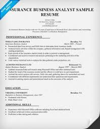 Insurance Resume Template Business Analyst Resume Template Entry Level Business Analyst