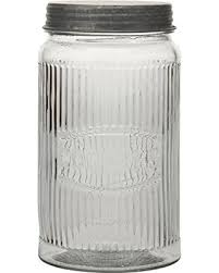 amazing deal on stonebriar sb 5834a pressed glass cookie jar with