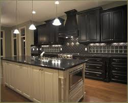 Pictures Of Black Kitchen Cabinets Alluring Kitchen Impressive Diy Painted Black Cabinets Distressed