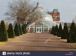the winter gardens and people u0027s palace on glasgow green in winter