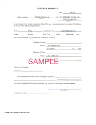 Ct Power Of Attorney Form by 7 Power Of Attorney Form Automobile Scholarship Letter