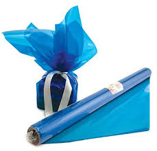 where to buy colored cellophane cello wrap roll blue