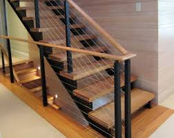 Banisters And Railings Cable Railing U0026 Custom Stairs Project Gallery Keuka Studios