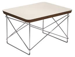 Wire Side Table Eames Replica Wire Side Table Plywood And Steel In White