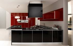 lacquered glass kitchen cabinets black and maroon glossy lacquered glass modern kitchen