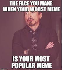 Meme Most Popular - face you make robert downey jr meme imgflip