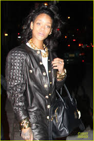 rihanna jumpsuit rihanna rocks leather jumpsuit for nobu dinner photo 2988824
