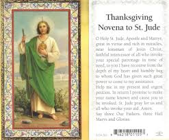 st jude with thanksgiving novena to st jude gold trim