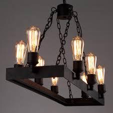 Lighting Fixtures Industrial by 8 Light Wrought Iron Industrial Style Lighting Fixtures