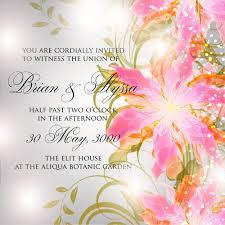 beautiful flowers wedding invitation card vector set free vector