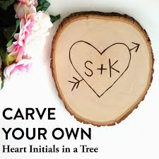 initials carved in tree s day tutorial carve your own heart initials in a tree