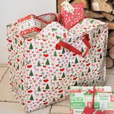christmas wrapping bags 50 s christmas design jumbo storage bag rex london dotcomgiftshop