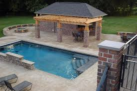 Backyard Designs With Pool And Outdoor Kitchen Rectangle Pool Designs Pool Design And Pool Ideas