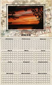 photography blography 2013 a vintage calendar template with