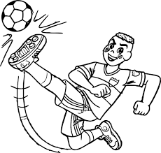 cascao boy kicking ball coloring wecoloringpage
