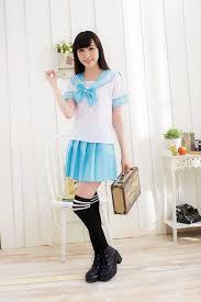 Sailors Halloween Costumes Cosplay Lovely Uniform Dress Shirt Mini Skirt