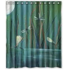 Dragonfly Shower Curtains Endearing Dragonfly Shower Curtains Designs With Get Cheap