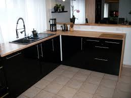 cuisine noir laqué beautiful cuisine bois et noir ideas design trends 2017