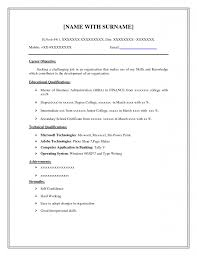 Form Of Resume For Job Simple Resume Examples For Jobs Resume Format Download Pdf