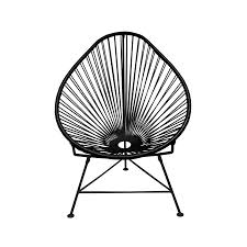 Acapulco Outdoor Chair Black Acapulco Chair Innit Design