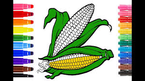 how to draw corn for kids corn coloring pages art colors with
