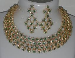 green emerald necklace images Cz emerald necklace set padmaja thuremella collection jpg
