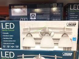 Costco Led Light Fixture Enchanting Bathroom Feit Electric 3 Light Bath Vanity Integrated