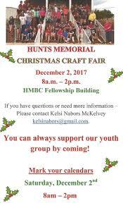 hmbc youth christmas craft fair hunt u0027s memorial baptist church