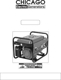 chicago electric portable generator 92455 user guide