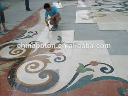 waterjet marble tiles design floor pattern for interior design