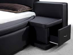 Circle Bed Aiden Black Round Bed Modern Bedroom Furniture