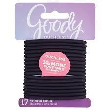 goody hair ties goody ouchless elastic black 4mm 17 ct target