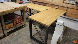 Diy Metal Desk Industrial Wood And Metal Desk 38 Jackman Works