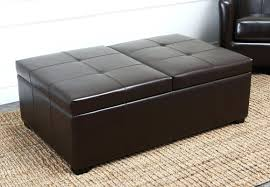 leather cocktail ottoman with storage square 24684 interior decor